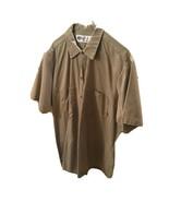 MENS Dickies Short Sleeve Work Shirts Beige Size Large 2 Pack - $9.60