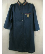 Smart Time Womens Blue Nightgown House Dress Large Vintage ILGWU Made in... - $19.99
