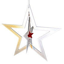 3D Aluminum and Crystal Star Ornament image 5