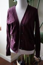 Old Navy Long Sleeve V-Neck Sweater Cardigan sz S Burgundy NWT 100% cotton - $14.25