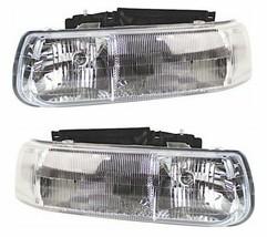 Headlights Headlamps Chevrolet Silverado 1999-2002 Suburban 2000-2006 PAIR - $112.47