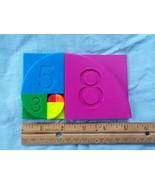 Fibonacci Rainbow puzzle Montessori hands on early math and colors - $10.99