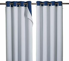 NICETOWN Cold Heat Light Noise Blocking Blackout Curtain Liners with Rin... - $59.60+