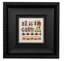 All Is Calm Kit christmas cross stitch kit Heart in Hand - $18.00
