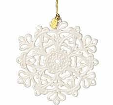 Lenox 2017 Snowflake Ornament Snow Fantasies Annual Christmas Porcelain NEW - $39.00
