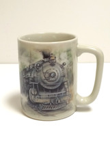 VTG Otagiri Japan Train Locomotive Railroad Sunrise Pub. Inc. Mug Coffee... - $24.74