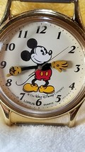 Vtg Disney MICKEY MOUSE MENS WATCH Lorus Japan V515-6116 Parts Repair  - $13.05