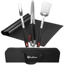 LauKingdom BBQ Grill Tool Set, Stainless Steel Grilling Utensils, Spatul... - £28.39 GBP
