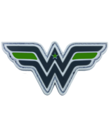 WONDER WOMAN HOOK & LOOP SHERIFF ARMY GREEN LINE PVC PATCH - $23.74