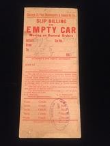 Vintage Train/Railway Empty Car Slips - set of 2 image 3
