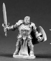 Stern Paladin Hero Reaper Miniatures Dark Heaven Legends Fighter Warrior Melee - $7.42
