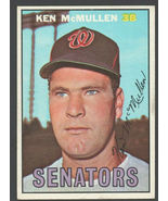 Washington Senators Ken McMullen 1967 Topps Baseball Card #47 ex/em - $1.15