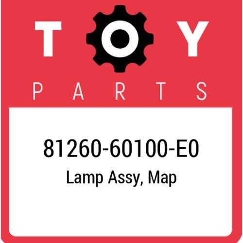 81260-60100-E0 Toyota Lamp Assy Map, New Genuine OEM Part
