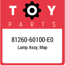 81260-60100-E0 Toyota Lamp Assy Map, New Genuine OEM Part - $61.28