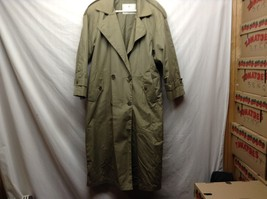 Towne from London Fog Green Trench Coat Sz 10 Reg