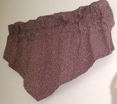 Croscill Dark Lavender Gold Ascot Valance Damask Filigree 50 x 23 Lined USA - $17.82