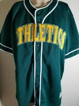Oakland Athletics A's Jersey MLB Vintage Green Team Baseball Size XL image 2