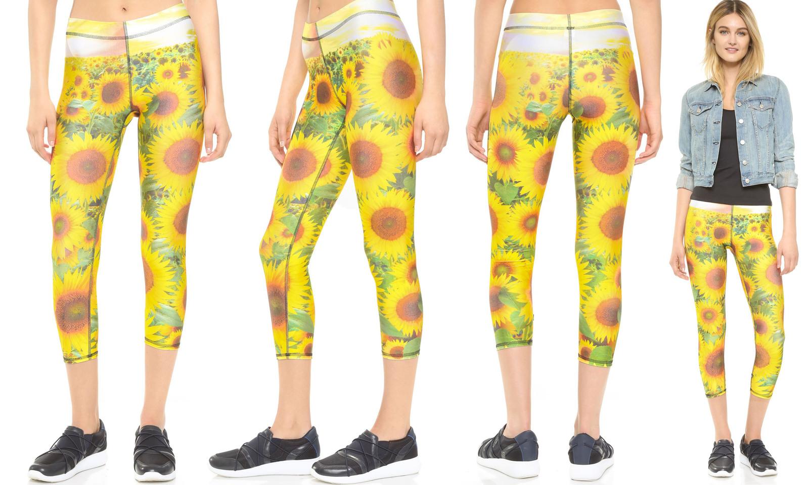 Trz 151 02 649 sunflower terez printed leggings 00