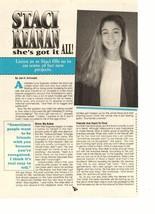 Staci Keanan teen magazine pinup clipping she's got it all Teen Beat Tiger Beat