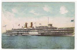 Steamer Hendrick Hudson Hudson River Line New York 1910c postcard - $5.40