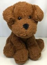 "Animal Adventure Brown Puppy Dog Stuffed Animal Plush Toy Black Nose 7"" ... - $13.85"