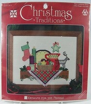 """Christmas Traditions Shelf Cross Stitch Kit 9 x 12"""" Designs for the Need... - $9.50"""