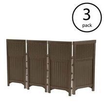 MRT SUPPLY Outdoor Garden Yard 4 Panel Screen Enclosure Gate Fence, Java... - $604.09