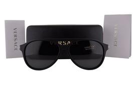 Nuevo Versace Mod: 4312 5141/87 Negro Mate con / Gris 60mm - $231.23