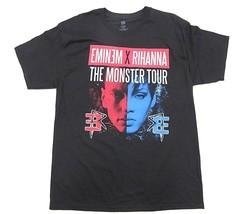 EMINEM & RIHANNA The Monster Tour 2014 Comerica Park Detroit Shirt Men's Size L - $32.62