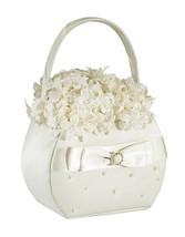 Ivory Pearl Flower Basket Flower Girl Basket Wedding supplies - $14.25