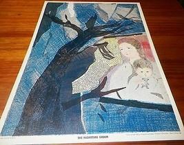 1969 Vintage Children's Print The Nighttime Storm Nursery Picture Portfolio - $7.92