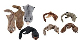 Animal Stuffing Free Dog Toy with Squeaker Unstuffies for Dogs No Mess Toys - £10.64 GBP