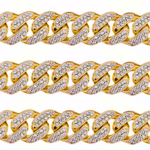 45CT Mens Solid Yellow Gold Heavy Miami Cuban Link 17 MM Real Diamond Chain - $49,949.00