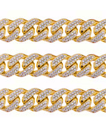 45CT Mens Solid Yellow Gold Heavy Miami Cuban Link 17 MM Real Diamond Chain - $43,455.63