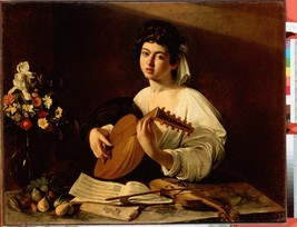 Caravaggio, Michelangelo Merisi da - The Lute-Player - 24x32 inch Canvas Wall Ar - $51.99