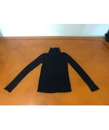 Girls Kids Gap GapKids Black Solid Long Sleeve Turtle Neck Shirt Large 10 - $8.90