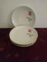 Johann Haviland SUMMER ROSE Bavaria Germany Pink Flower Bread Plates Set 4 - $28.04