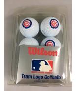 Chicago Cubs Wilson (2) Set of 6 Team Logo Golf Balls NEW - $24.50