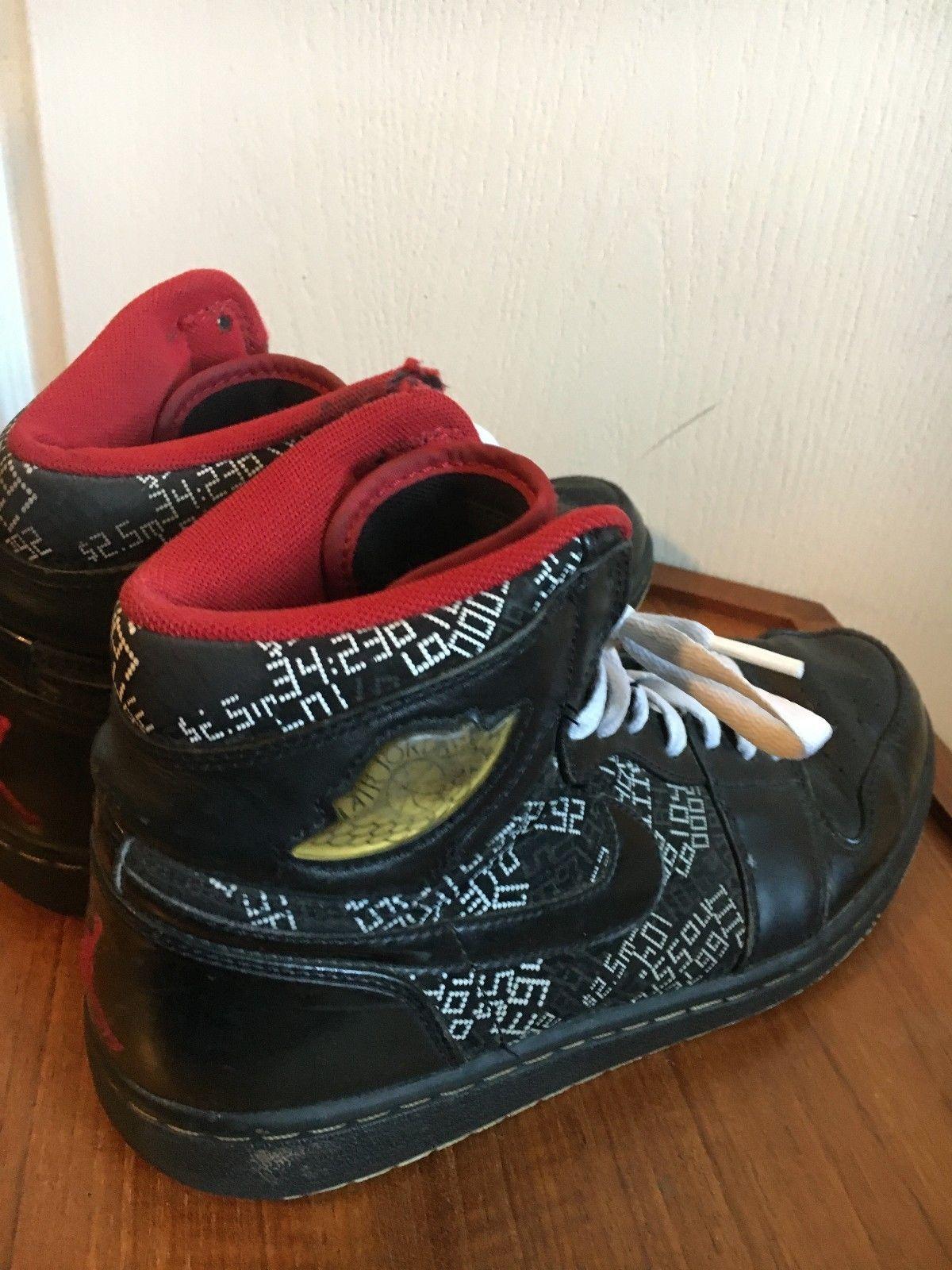 best loved a9e50 33bce 371498-012 Air Jordan 1 Nike Hall of Fame 09 Black Red ...