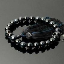 Buddhist Rosary Mala Juzu Prayer beads Japan Kyoto Blue Tiger Eye Blue B... - $158.60