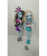 Monster High dolls Abbey Bominable Art class Sweet screams lot 2 - $29.69
