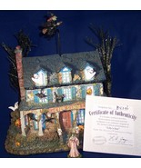 Munsters Halloween Hawthorne Village Collectible Lily's Inn Decoration - $74.79