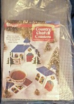 Columbia Minerva Christmas Country Church Coasters Holder Plastic Canvas... - $99.99