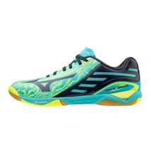 Mizuno WAVE DRIVE Z Table Tennis Shoes Unisex Blue Yellow Paddles 81GA160025 - $164.61