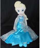 "19"" DISNEY PRINCESS FROZEN ELSA STUFFED ANIMAL PLUSH BLUE DRESS DOLL JUS... - $17.77"