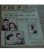 A Gal In Calico, Leo Robin, Arthur Schwartz, 1941, OLD SHEET MUSIC - $5.93