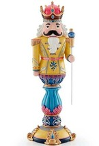 """Lenox Merry and Bright Gold Nutcracker Figurine 14.5""""H #889900 New In Box - £132.65 GBP"""