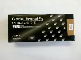 Dental Composite G aenial Universal Flo 2ml (3.4g) By GC Shade A3 + Bonus - $51.90
