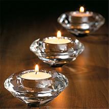 Glass Crystal Candelabra Candleholders Stand Tea Light Candle Stick Wedd... - $16.40