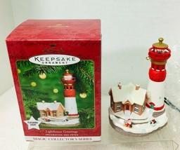 2000 Lighthouse Greetings #4 Magic Hallmark Christmas Tree Ornament MIB - $32.18